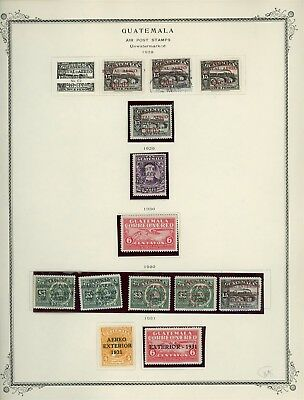GUATEMALA Album Page Lot #SPEC27 - SEE SCAN - $$$