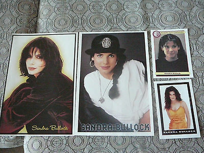 SANDRA BULLOCK 2 PIN UP POSTERS PHOTOS AFFICHES 7.5 x 10.5 + 2 CARDS CLIPPING
