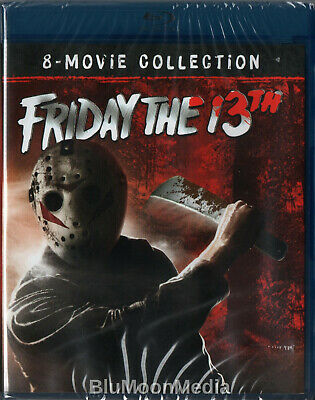 Friday the 13th BLU-RAY 8 Movie Collection Set w/ Slipcover 1-8 Brand NEW