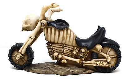 Novelty Skull Bone Skeleton Motorbike Biker Ornament Wine Bottle Holder Gift
