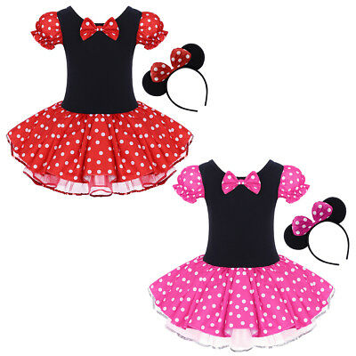 Girls Minnie Mouse Tutu Princes Dress up Costume Polka Dot Outfits for Cosplay