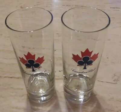 Set of 2 Tall Canadian Club Cocktail Glass