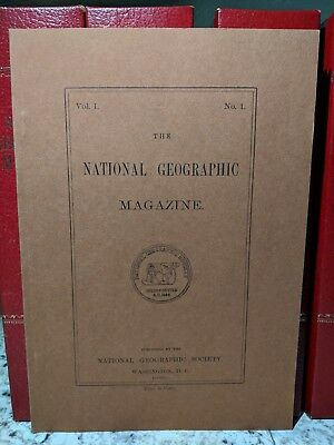 National Geographic 1888 Vol. 1 No. 1  1964 reprint