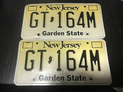 New Jersey License Plate Pair GT-164M