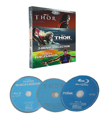 THOR 3-Movie Collection [Blu-ray Box Set] 1-3 Brand New Free Shipping