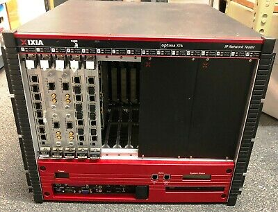 IXIA X16 Optixia High Performance Chassis Pulled from Working Environment