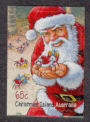 Christmas Island  2014 Christmas Santa booklet stamp.Mint unhinged.