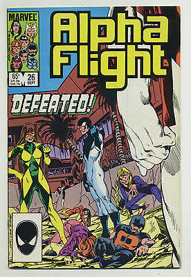 Alpha Flight #26 1985 John Byrne Marvel pX
