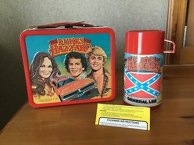 1980 Dukes Of Hazard Lunchbox And Thermos - Unused!