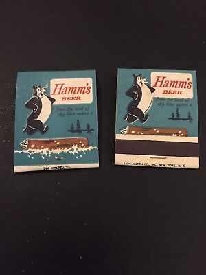 Hamm's Beer Matchbook - Pair - Iconic Bear