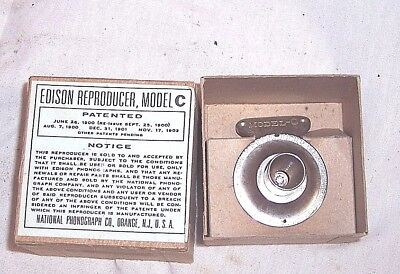 REPRODUCTION EDISON PHONOGRAPH MODEL C 2m REPRODUCER IN A BOX