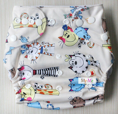Baby Boy Girl Cloth Diaper One Size Adjustable Hip Snaps Nappy Pocket Cover H25