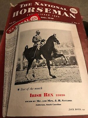 The National Horseman Magazine From July 1948