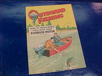 Orig 1961 EVINRUDE OUTBOARD MOTORS Advertising FISHING Illustrated COMIC BOOK