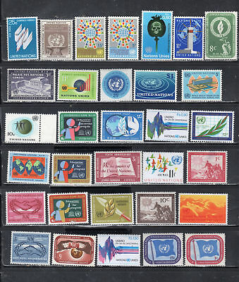 United Nations  Stamps  Mint Hinged Lot  35412