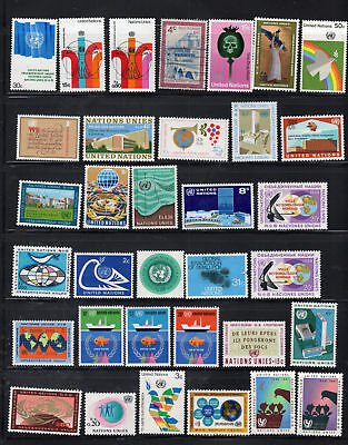 United Nations  Stamps  Mint Hinged Lot  35415