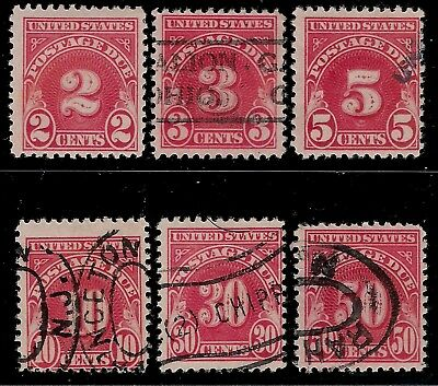 USA 1930 - 1931 Old Postage Due Stamps
