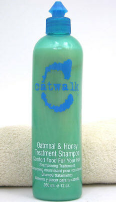 TIGI Catwalk Oatmeal Honey Treatment Shampoo 12 oz Repair Hair Moisturize Shine