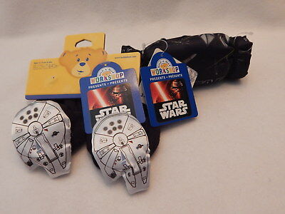 NEW Build A Bear Clothes Star Wars Sleeping Bag & Slippers NWT