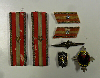 #68. WWII Japanese officers rank insignia, & more.  Nice lot.