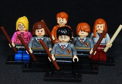 HARRY POTTER STUDENTS Set of 6 Minifigs Ron Luna Ginny Hermione Free USA  Ship