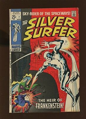 Silver Surfer 7 FN+ 6.5 *1 Book* 1969 Marvel! Frankenstein! Stan Lee! Buscema!