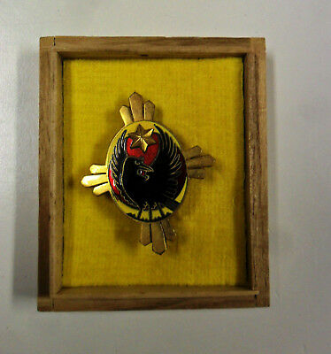 #76. WWII Japanese wound badge, rare gold one, boxed.  Original.