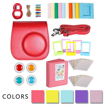 9 In 1 Instant Camera Accessories Bundles Kit For Fujifilm Instax Mini 8 9 +Bag