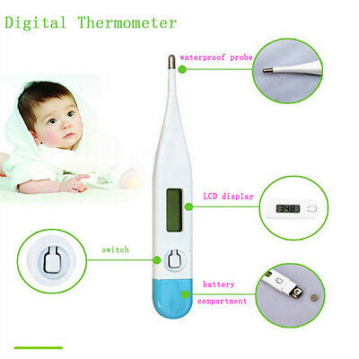 Digital LCD Medical Thermometer Mouth Baby Body Temperature Tester w/Beeper New