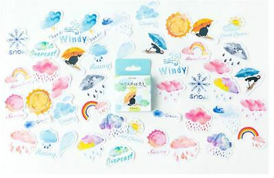 1 Box Assorted Weather Self Adhesive Sticker / Bag Sealer / DIY Scrapbook Decor