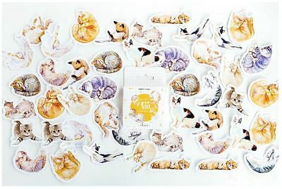 1 Box Assorted Naughty Cat Kitten Sticker / Bag Sealer / DIY Scrapbook Decor