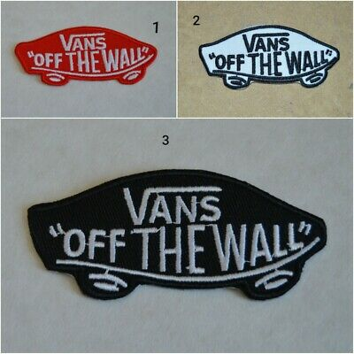 patch, chaussures, vans off the wall , broder et thermocollant 8.5/3.5cm