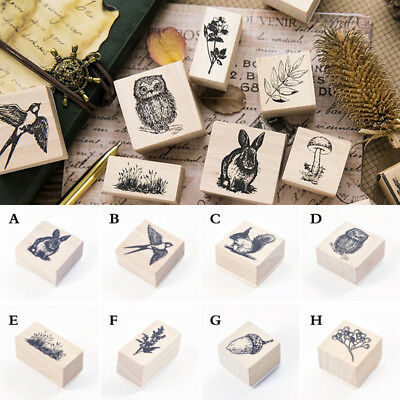 Animals Stamp Wooden Rubber Stamps For Scrapbooking Stationery DIY Craft Stamp A