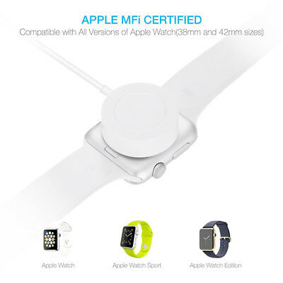 Magnetic Charger Charging Cable For Apple Watch 2/3 Edition iWatch 38mm 42mm