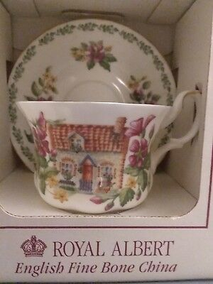 Royal Albert English Country Cottages NORFOLK Teacup and Saucer NIB
