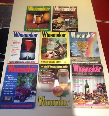 Vintage Winemaker Magazines 1981 Collection Of 8 For The Amateur Brewer