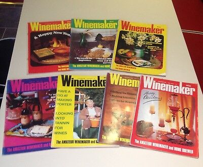 Vintage Winemaker Magazines 1980 Collection Of 7 For The Amateur Brewer