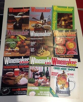Vintage Winemaker Magazines 1983 1986 Collection Of 9 For The Amateur Brewer