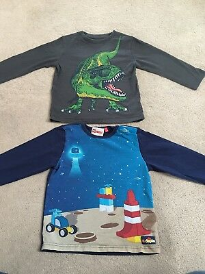 Baby Boys Toddler Tops Age 2 Years Long Sleeves DUPLO Lego Dinosaur