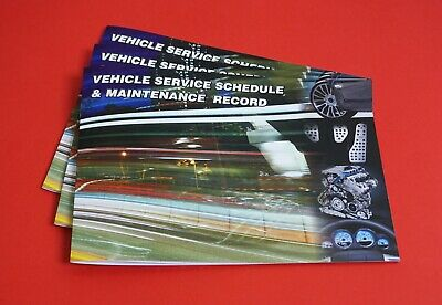 3 Premium Vehicle Service Book Blank History Book Maintenance Record Replacement