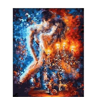 Couple In Love Nude Painting Horsewoman Afremov DIY Acrylic Paint Numbers Canvas