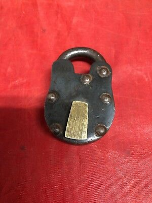 Vintage Style Padlock Brass Lock Wild West 1800s Antique Style SOLID METAL