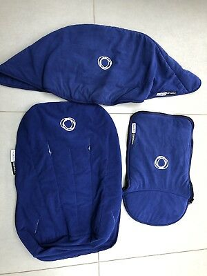 Bugaboo Cameleon 1&2 fleece fabric set Hood, apron and seat cover Blue