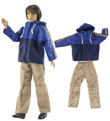 Dll clothing/Outfit/Tops+Pants For Barbie's BF Ken Doll Clothes A1