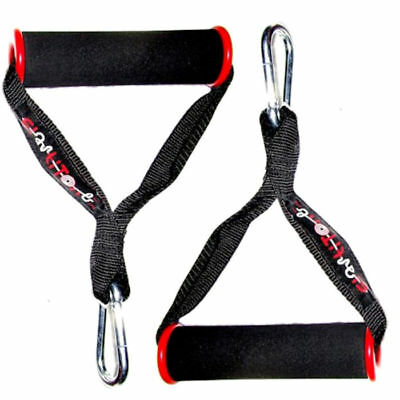 Extra Strong Heavy-Duty Resistance Exercise Band Handles + 70Mm Carabiner Hooks