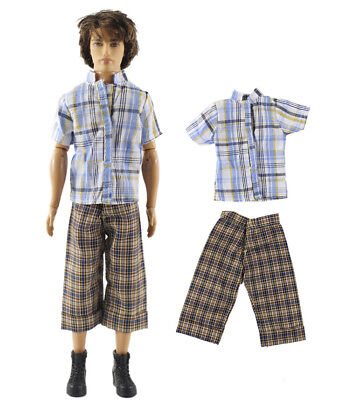 Dll clothing/Outfit/Tops+Pants For Barbie's BF Ken Doll Clothes A3