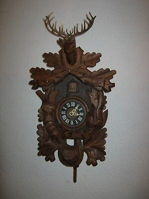 Vintage Albert Schwab Karlsruhe Black Forest Cuckoo Clock West Germany - Working