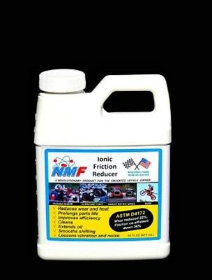 NMF Ionic Friction Reducer 4 Engines Fuel Efficiency Filter Prolong Engines 16Oz