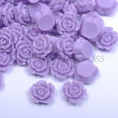 20pcs Purple Gorgeous Rose Flower Coral Resin Spacer Beads 12MM