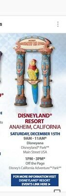 2018 Disney Parks traditions Jim Shore Signed Walt Enchanted Tiki Room bird Jose